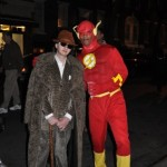Me and the Flash hangin out on Halloween.